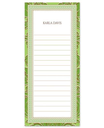 Kelly Green List Pad