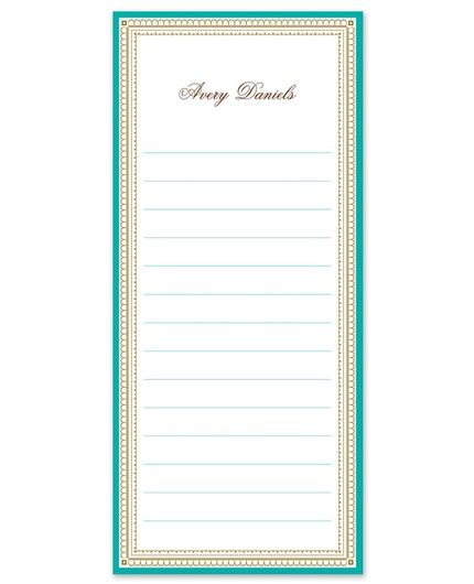 Teal & Gold List Pad
