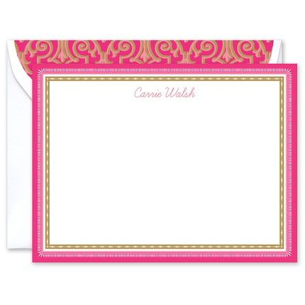 Pink & Gold Flat Card