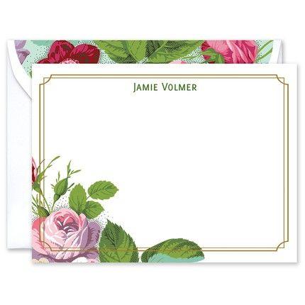Garden Rose Flat Card