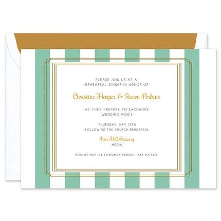 Teal Stripe Invitation