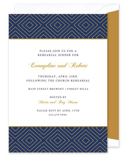 Navy and Gold Invitation