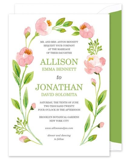Botanical Wreath Invitation