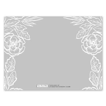 Grey Floral Note Card
