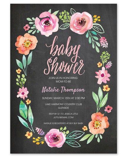 Chalkboard Baby Invitation