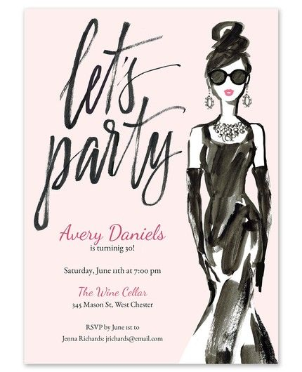 Party Girl Invitation