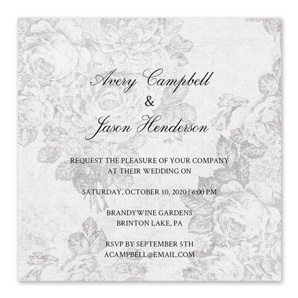 Victorian Grey Invitation
