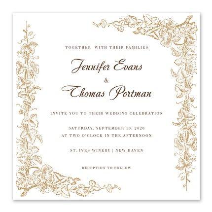 Intertwined Vines Invitation