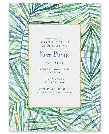 Tropical Palms Invitation