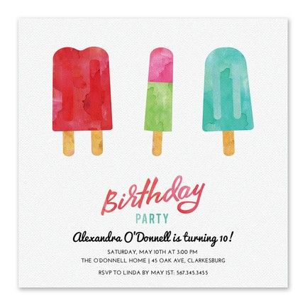Sweet Popsicles Invitation