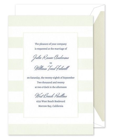 Sumptuous Stripes Invitation