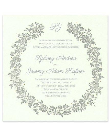 Rosy Wreath Invitation