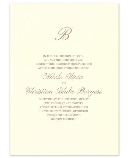 Sumptuous Rose Invitation