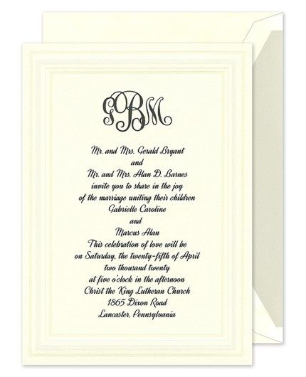 Intricate Embossed Panel Invitation