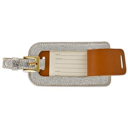 White Gold Luggage Tag