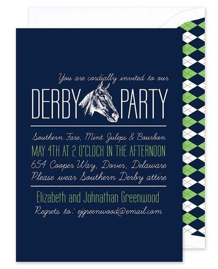 Argyle Party Invitation