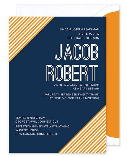 Corner Stripe Invitation