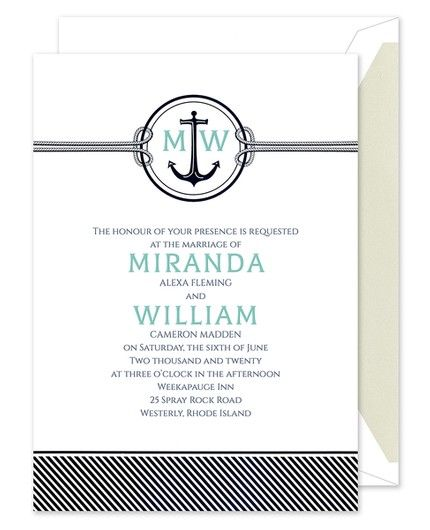Nautical Romance Invitation