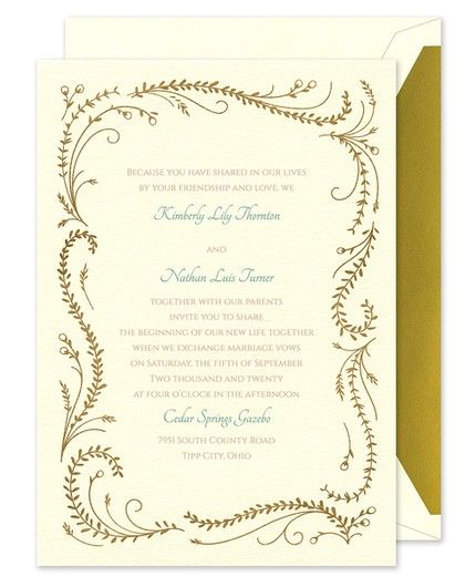 Frame of Vines Invitation
