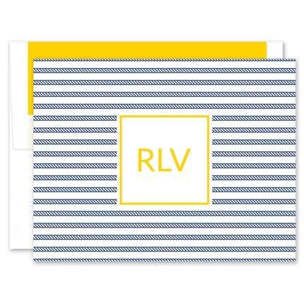 Rope Stripe Note Card