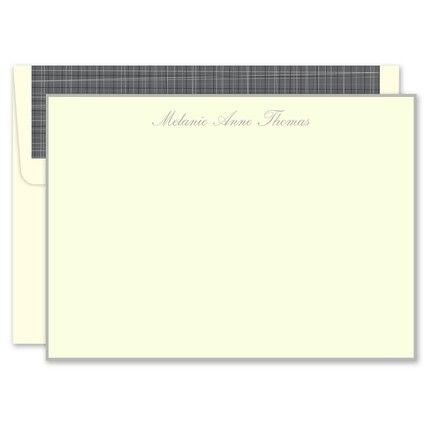 Grey Ivory Flat Card