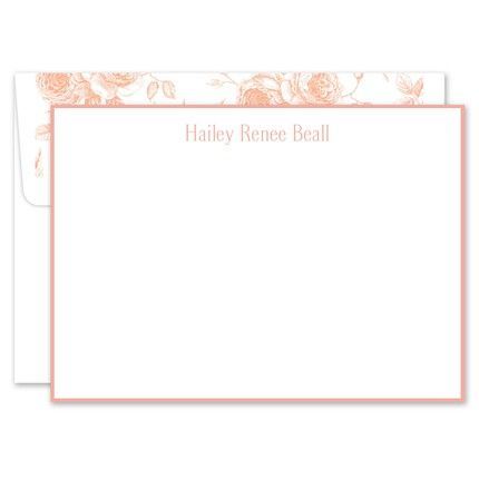 Peach White Flat Card