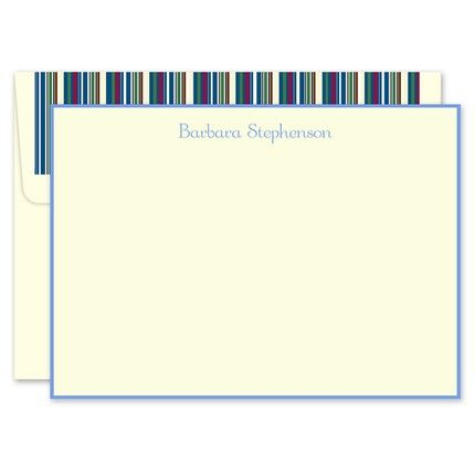 Soft Blue Ivory Flat Card
