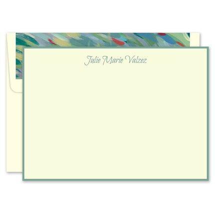 Sage Ivory Flat Card