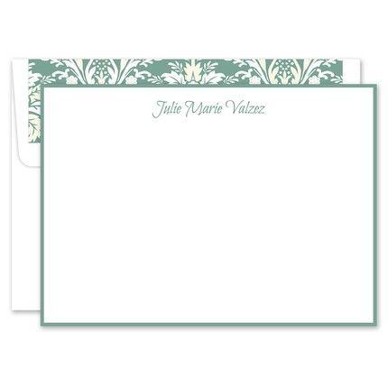Sage White Flat Card