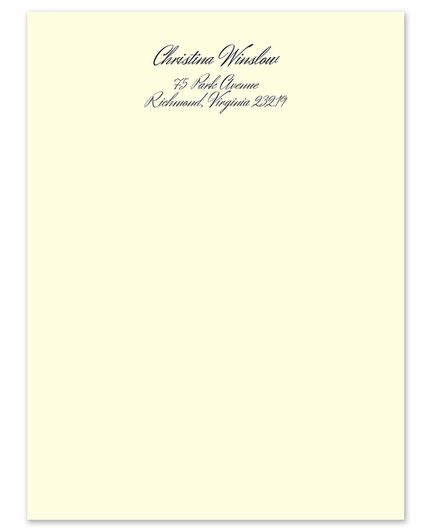 Vellum Ivory Lettersheet