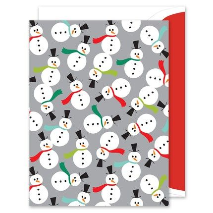 Snowmen Party Greeting Card
