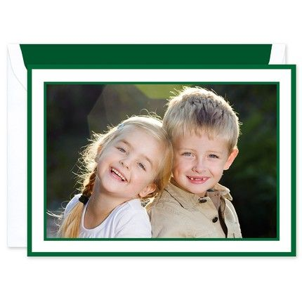 Holly Border Mounted Photo Card