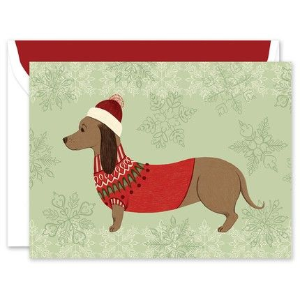 Festive Pup Greeting Card