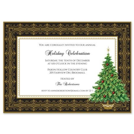Classic Evergreen Invitation