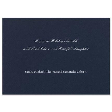 Snowflake Silver Greeting Card