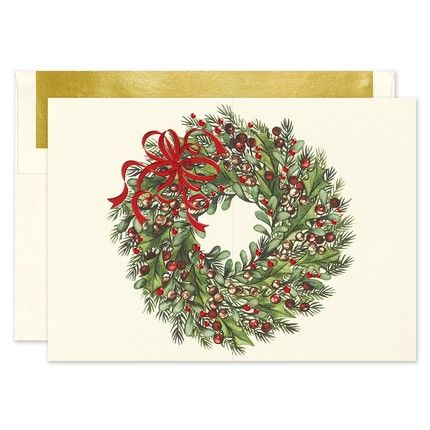 Classic Wreath Greeting Card