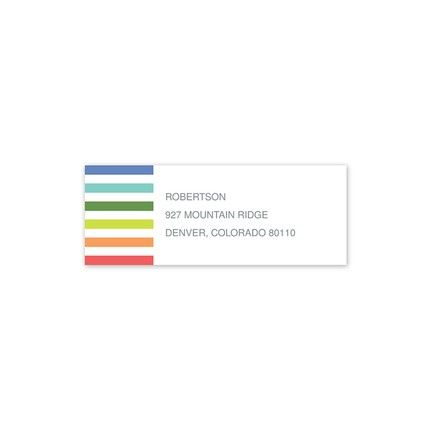 Colorful Address Label