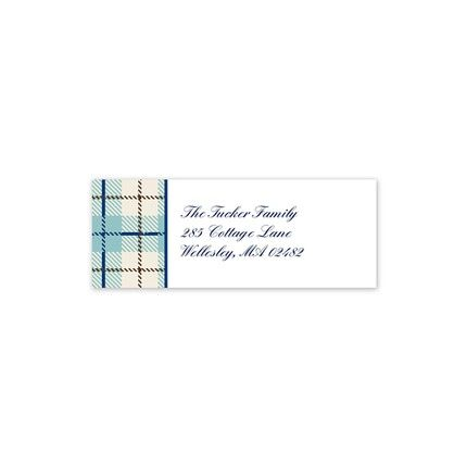 Wallace Blue Address Label