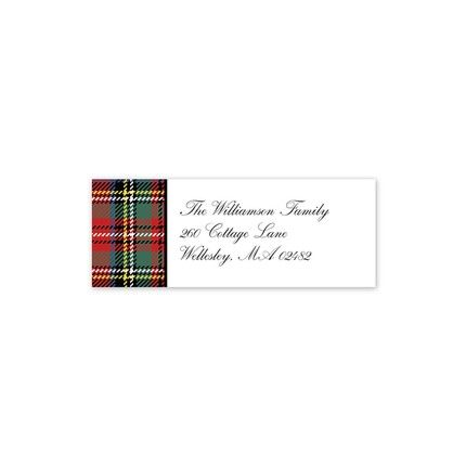Tartan Plaid Address Label