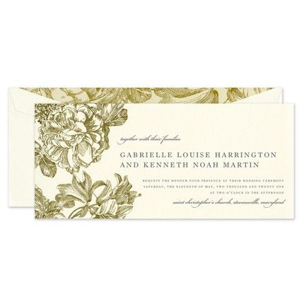 Gilded Bloom Invitation
