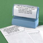 Deposit Large Custom Address Stamp