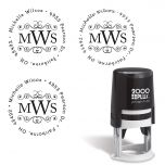 Round Monogram Custom Address Stamp