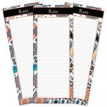 Color Paisley Lined Shopping List Pads