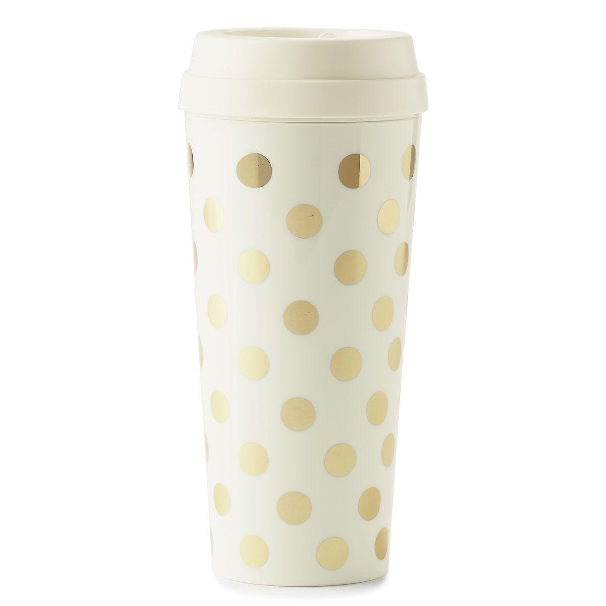 Gold Dots Thermal Mug