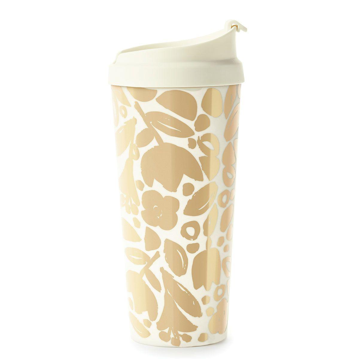 Golden Floral Thermal Mug