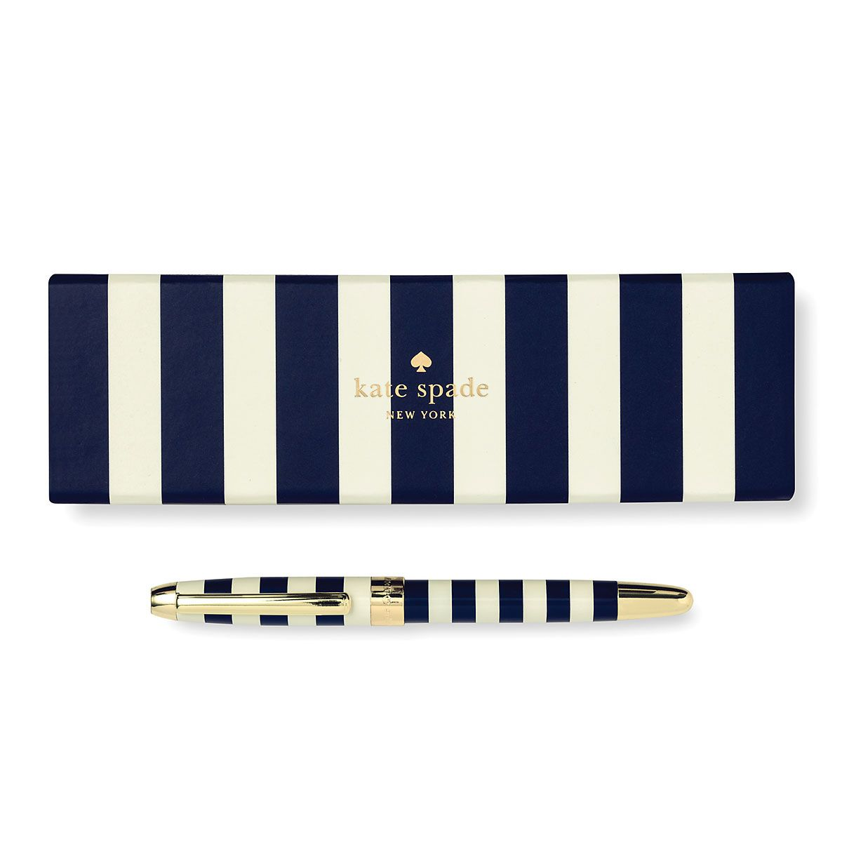 Navy Stripe Ballpoint Pen