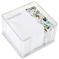 Aubrey Floral Note Sheets in a Cube