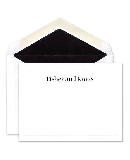 Embossed Flat Card