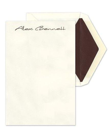 Ecru Modern Letter Sheet