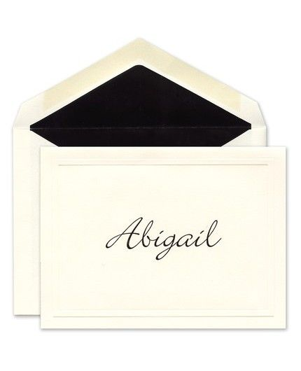 Ecru Embossed Note Card